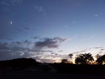 日が短くなりました。